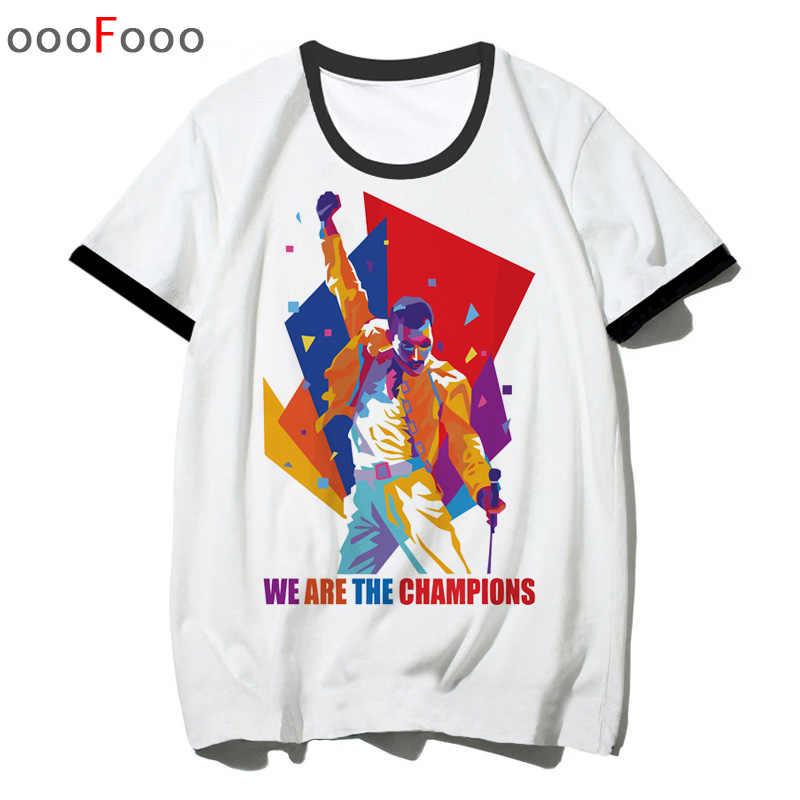 71a299ca3639 ... Freddie Mercury T Shirt The Queen Band rock T-Shirt Men Hip Hop Casual  Tshirts ...