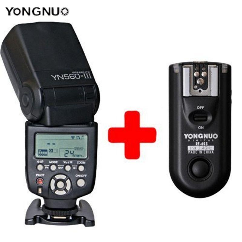 YongNuo YN-560III yn560iii Flash Speedlite + RF-603 C3 Wireless trigger For Canon 5DIII 7D 6D 1DII 2x yongnuo yn600ex rt yn e3 rt master flash speedlite for canon rt radio trigger system st e3 rt 600ex rt 5d3 7d 6d 70d 60d 5d