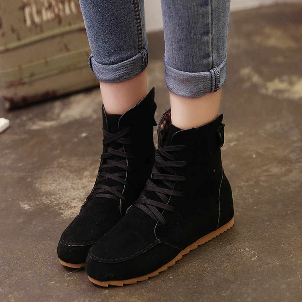 Ladies Flat Ankle Boots