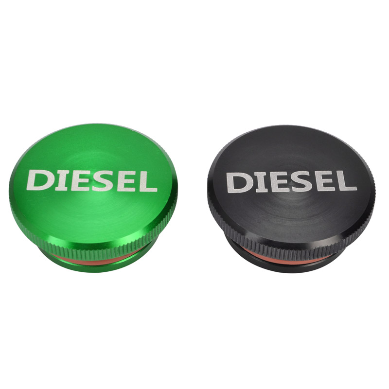 New Billet Aluminum Fuel Cap Magnetic Truck Permanent Cap for 2013-2017 Dodge Ram Diesel Black & Green