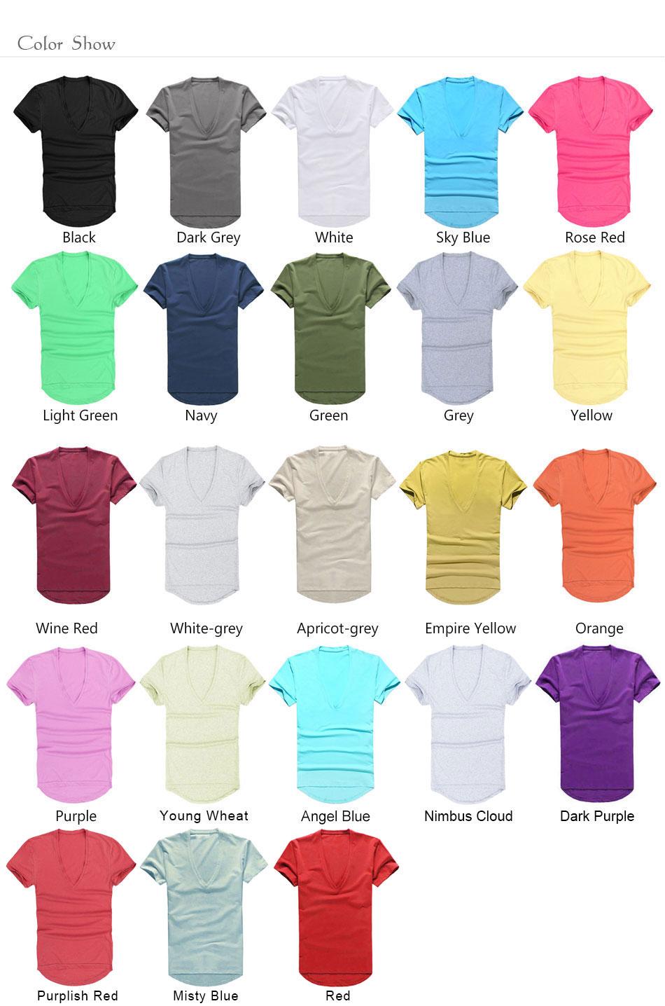 Zecmos Deep V Neck Sexy Men T-Shirt Vintage Short Sleeve Solid Color Muscle Fit T Shirt Men Top Tees Fashion 5