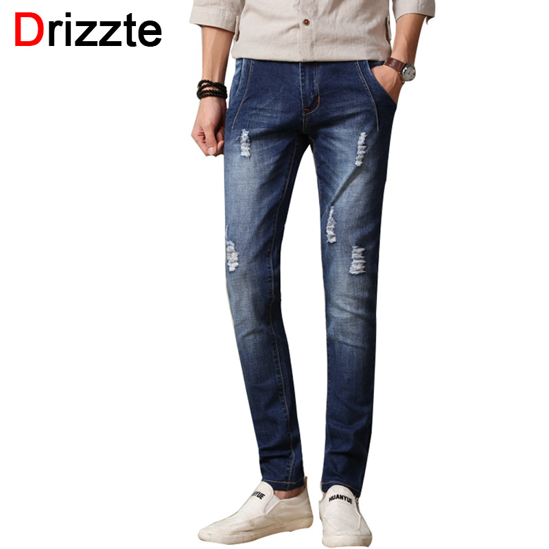 Drizzte Mens Stretch Denim Jeans for Men Slim Ripped Distress Jean Pants Trousers Man 30 31 32 33 34 36 Jeans for Men