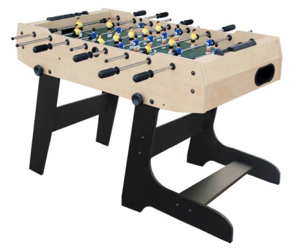 Folding Football Table,105*58cm Football Field,22 Players 8 Ball Arms,wood  Texture Foosball Game,soccer Table To Adult In Soccer Tables From Sports ...