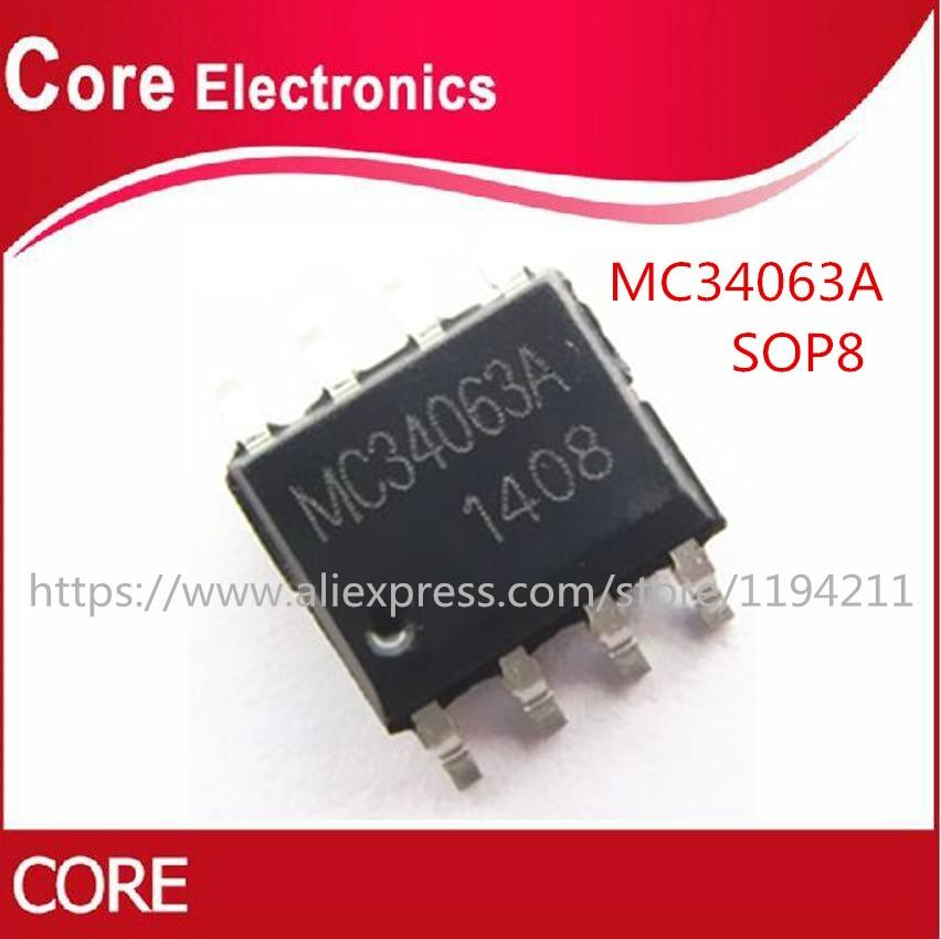 1000 pçs/lote MC34063A MC34063 MC34063AD SOP8 Melhor qualidade    -