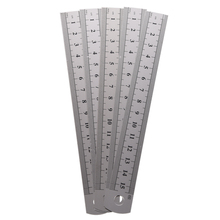 5 Pcs Dual Side Marked 15cm 6 inch Stainless Steel Straight Ruler