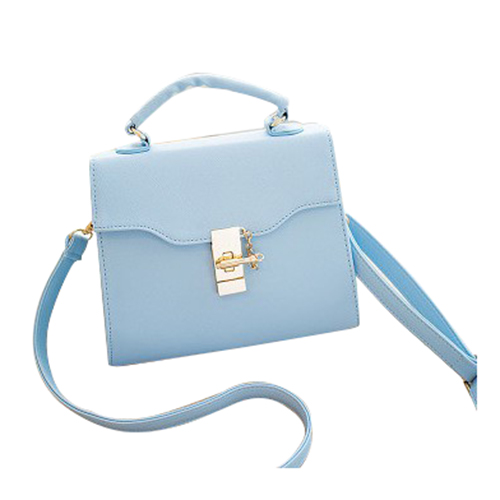 Hot Fashion Ladies shoulder Messenger hook small square Flap Crossbody bag handbag Blue Size: S: 19*9*15cm ...