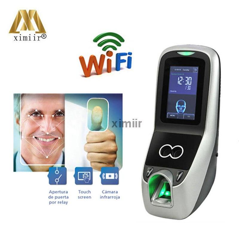 Iface7/Multibio700 com WIFI função de reconhecimento facial máquina face & fingerprint controle de acesso e do comparecimento do tempo de gravação
