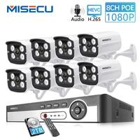 MISECU 8CH 2MP POE NVR 1080 P камера комплект Открытый 1080 P PoE ip-камера аудио запись Onvif FTP CCTV система комплект видеонаблюдения