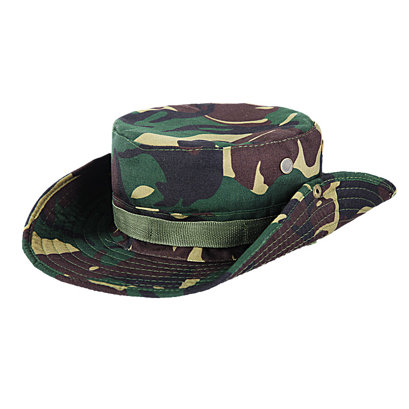 Sun Rainproof Army Hat Camouflage Hat Rider Cowboy Western Cap Montana Travel Sunhat Round Hats Jungle Combat Real Cs Unequal In Performance