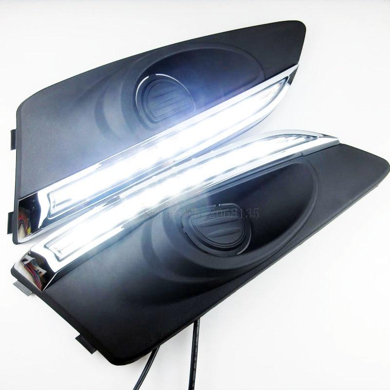 2шт высокое качество быстрая и бесплатная доставка светодиодными фарами дневного света для Chevrolet Шевроле Авео Соник 2011 2012 2013