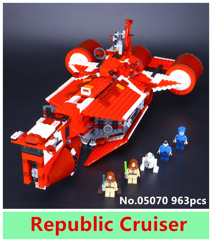 ФОТО Lepin 05070 963Pcs New Star War Series The Republic Cruiser Set Children Educational Building Blocks Bricks Toys Model Gift 7665