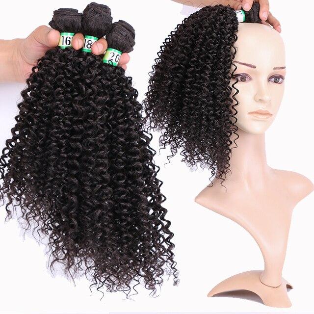Синтетические кудрявые вьющиеся волосы Омбре пряди для наращивания