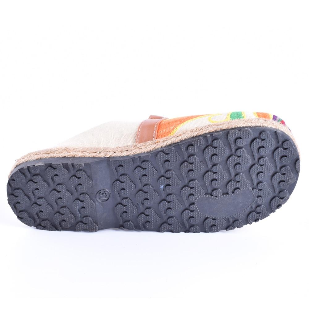 Mujeres de la vendimia Zapatillas de Lino Ocasional de Algodón - Zapatos de mujer - foto 6