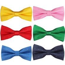 цена на Classic Men Bowtie Polyester Shirts Bow tie For Men Business Wedding Bowknot Adult Bow Ties Vestidos Gravata Borboleta