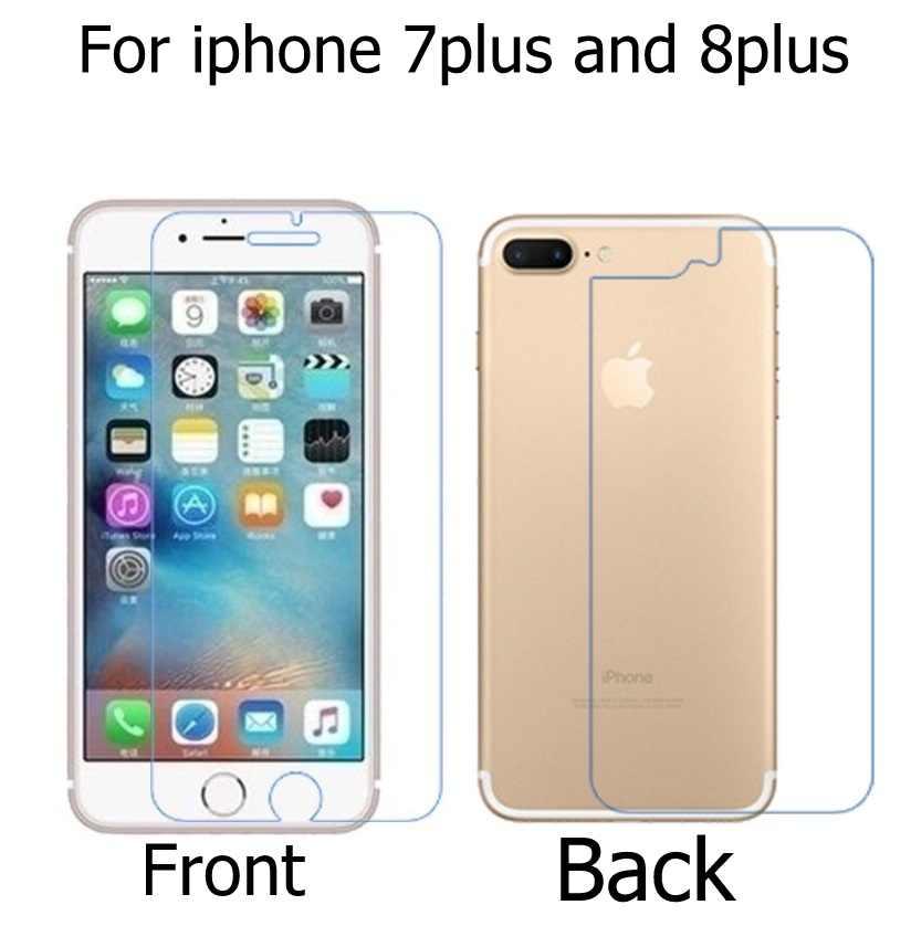 1 คู่ (ด้านหน้า + ด้านหลัง) HD LCD Clear GlossyสำหรับIphone 4 4G 4S 5G 5s 6 6S 6S 7X8 10 Plusหน้าจอป้องกันฟิล์ม