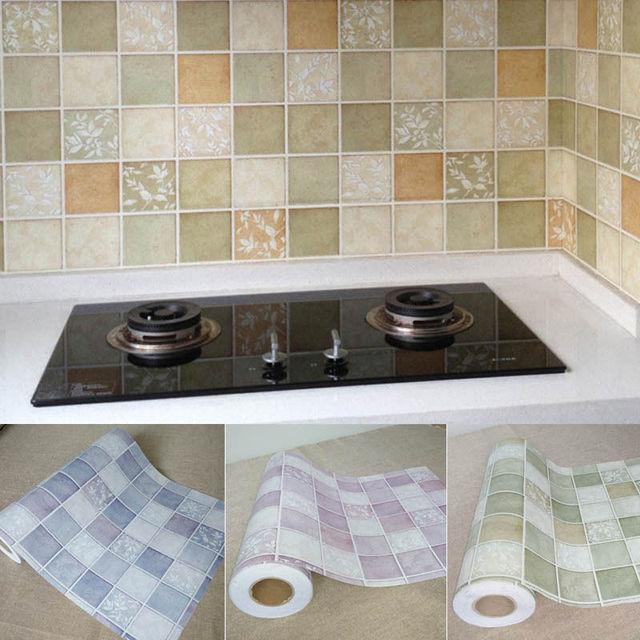 Baru Panas 100 60 Cm Foil Perekat Anti Minyak Wallpaper Untuk Dapur Stiker Dinding Diy