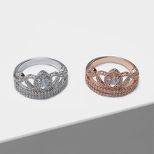 Amorita boutique Rose gold and silver crown design fashion rings(China)