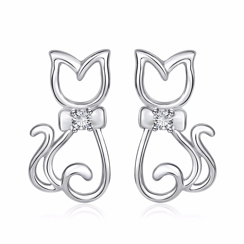 Cat Earrings Jewelry