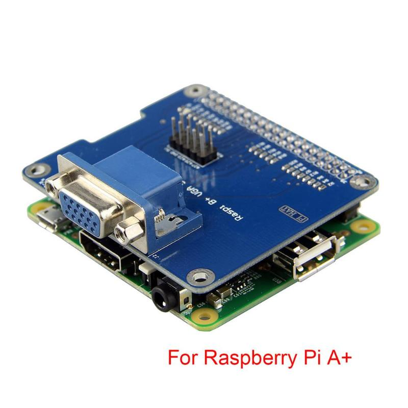 VGA Shield V2.0 Expansion Board for Raspberry Pi 3B/2B /B+/A+ Extend VGA Interface via GPIO and Remain HDMI