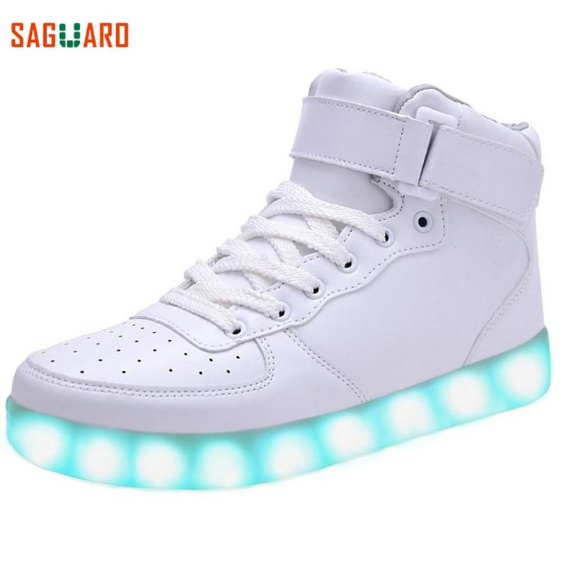 SAGUARO Trwałe ładowanie USB LED Lekkie buty Mężczyźni Kobiety 7 - Obuwie dziecięce - Zdjęcie 2