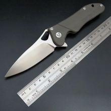 Hot EDC Tool Maker 3s designed Original ceramic ball bearing Flipper folding knife S35vn Titanium handle camping hunting knife