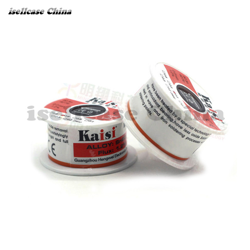 2x Kaisi Replacement accessoires tools Kaisi Solder wire High-purity disposable solder cable tin wire 50g/150g 0.3 0.4 0.5 0.6mm kaisi ks 3021b crv 21 pieces in 1 precision tools