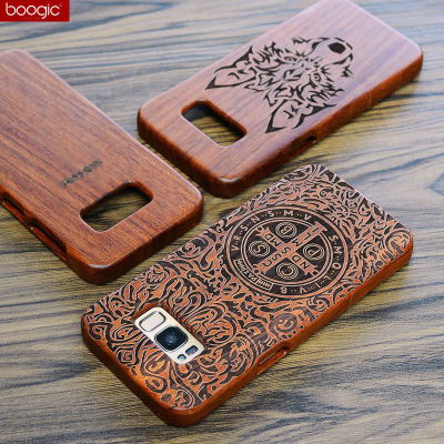 Original Wood Case For Samsung Galaxy S8 S8Plus Hard Carved Pattern Retro Coque Protective Back Cover For samsung s8 plus shell