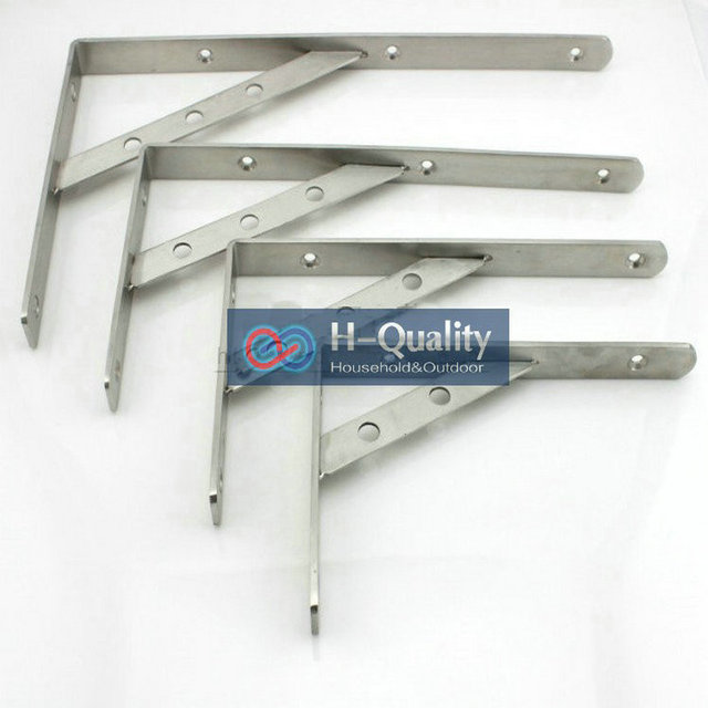 200X350MM AISI304 Stainless Steel Shelf Holder Bracket, Triangular Commodity Shelf, Wall Shelf, Shelf Supporting Frame