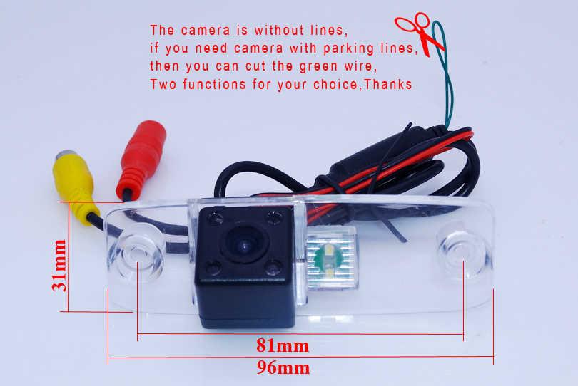 """CCD görüntü araba park kamerası ir işıklar + 5 """"800*480 geniş ekran araba monitör adaptörü içine orijinal araba Hyundai Elantra için"""