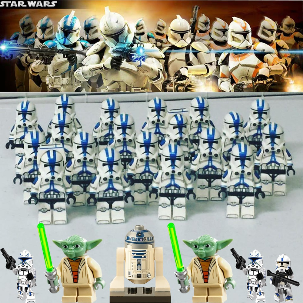 Toys Lot Star Wars Set Soldier Snowtrooper Clone Trooper Politie Building Blocks Toys Legoed Mini Figured Toys For Kids Gifts H