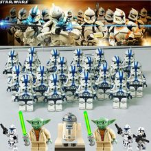 Toys lot Star wars set Soldier Snowtrooper Clone Trooper politie Building Blocks Toys Legoed mini figured Toys for kids gifts H(China)