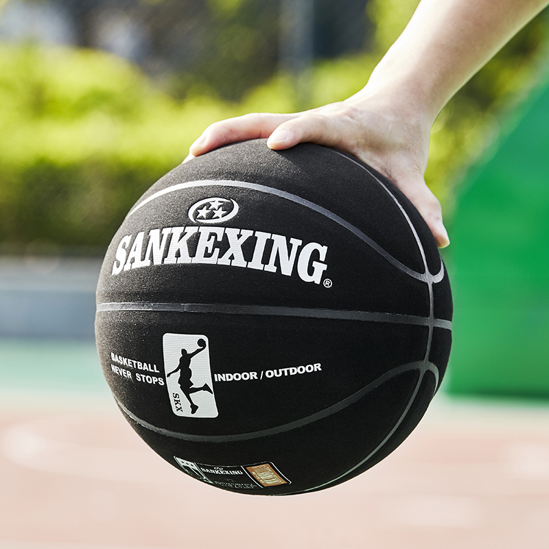Brand High Quality Size 7 Sport Leather Basketball Ball Training Indoor Outdoor Shooting Basketball With Inflating Ball Needle
