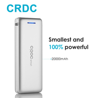 CRDC Li Polymer Power Bank 20000mah External Battery Portable Mobile Fast Charger Dual USB Powerbank For