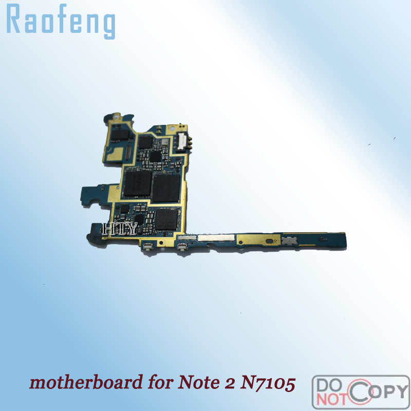 Raofeng Well worked For Samsung Galaxy Note 2 N7105 Motherboard  Unlocked mainboard Logic Board with chips(China)