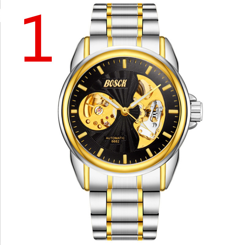 Luxury Men Watch Full Stainless Steel Gold Quartz Watch Famous Brand Men