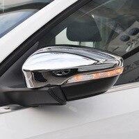 For JETTA MK6 2015 2016 2017 2018 ABS Chrome Car rearview mirror block rain eyebrow Cover Trim Car Styling Accessories 2pcs