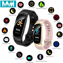 QW16 Smart Bracelet Sport Watch Heart Rate Fitness Tracker Men Wristbands Real-time Measurement Band