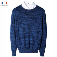 LANGMENG 2017 New Autumn Winter Fashion Brand Clothing Mens Sweaters Solid Color Slim Fit Men Pullover Knitted Sweater Men