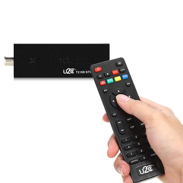DVB t2 U2C T2 HD 1080P Digital Terrestrial TV Stick รีโมทคอนโทรลภาษาดัชคำ,ภาษาอังกฤษ,ฝรั่งเศส,อิตาลี,รัสเซีย,สเปนทีวี