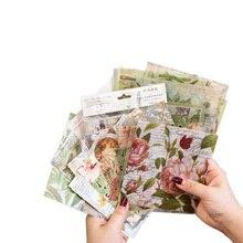15pcs/pack Vintage Flower Bronzing series DIY Dariy Decoration Scrapbooking Stickers washi Planner 4 selection