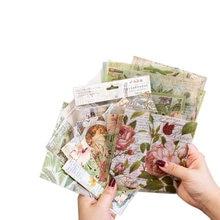 Autocollant série Vintage fleur bronzante, étiquette Scrapbooking, décoration dary, DIY bricolage, washi planificateur, 4 choix, 15 pièces/paquet