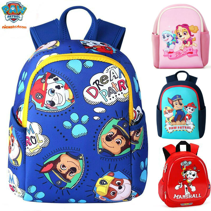 Us 18 14 45 Off 2019 Genuine Paw Patrol 30cm Waterproof Backpack Kids Knapsack Patrulha Canina Chase Marshall Rocky Zuma Bag Toy High Quality In