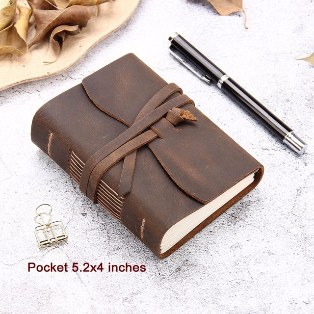 Leather journal travel notebook 1