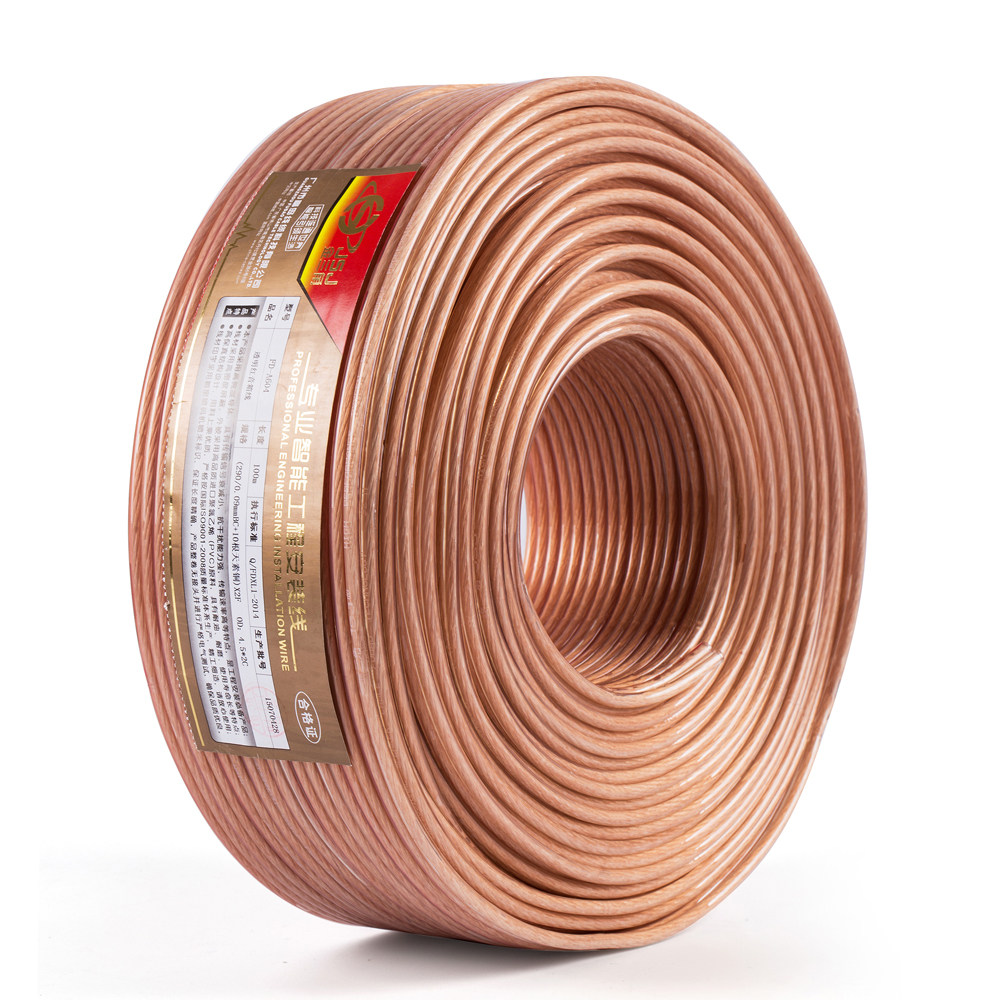 Online Shop Jsj 14ga 2x236 Diy Hifi Transparent Ofc Pure Copper Car Home Audio Installation Wiring Gauge 12awg Speaker Wire Cable