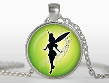 2017 new hot Jewelry accessories FAIRY ANGEL TINKERBELL necklace Charm Childhood  pendant gift for best friends HZ1