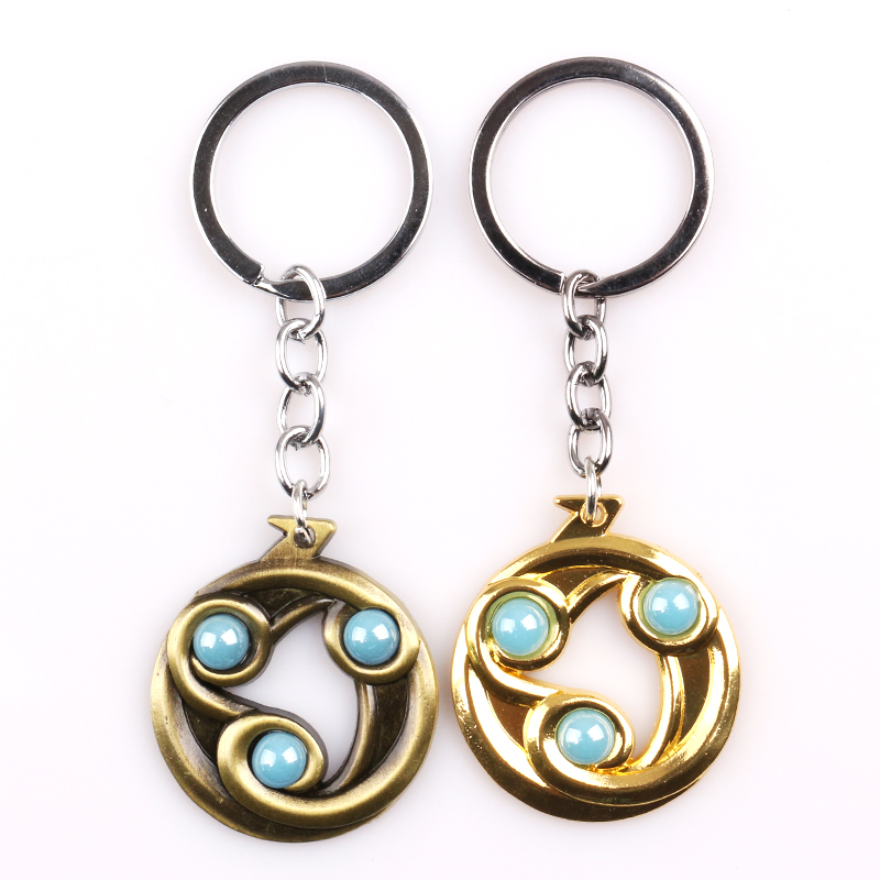 Dota2 Talisman of Evasion Keychain Pendant Gifts New Hot Game Peripherals Turret Alliance Keyring For Key Holder Car Accessories