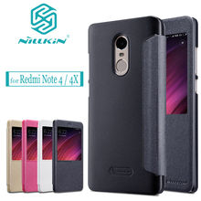 Nilkin For Xiaomi Redmi Note 4X/4/3 Case NIlLKIN Sparkle View Window Flip PU Leather Phone Back Cover for Redmi Note 4X / Note 4