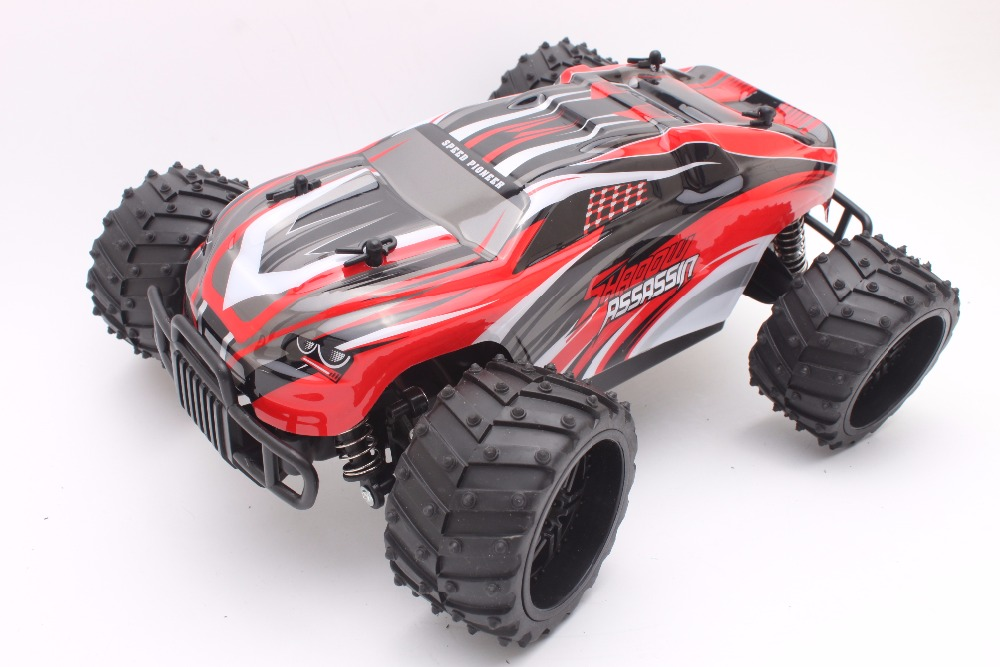 RC Car 27MHZ Rock Crawler Rally Car 2WD Truck 1:16 Scale Off-road Race Vehicle Buggy Electronic RC Model Toy S737-Red pilotage машина на радиоуправлении внедорожник off road race truck цвет оранжевый масштаб 1 16