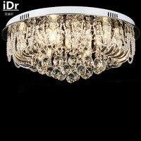 Современные круглый Роскошные лампа LED Crystal Light спальня лампы гостиной горит Ресторан Открытый Потолочные светильники освещения производит