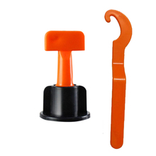 ABKM Hot Flooring Wall Tile Leveling System Leveler Plastic Clip Adjustable Locator Spacers Plier Level Wedges Hand Tools 50Pc